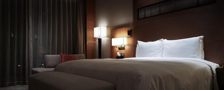 inside a hotel room